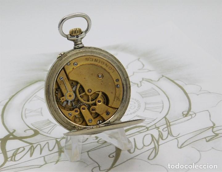 Relojes de bolsillo: LONGINES EFCº-FANTÁSTICO RELOJ DE BOLSILLO REMONTOIRE-2 TAPAS-CIRCA 1893-FUNCIONANDO - Foto 2 - 149386562