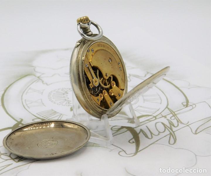 Relojes de bolsillo: LONGINES EFCº-FANTÁSTICO RELOJ DE BOLSILLO REMONTOIRE-2 TAPAS-CIRCA 1893-FUNCIONANDO - Foto 3 - 149386562