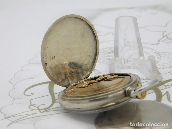 Relojes de bolsillo: LONGINES EFCº-FANTÁSTICO RELOJ DE BOLSILLO REMONTOIRE-2 TAPAS-CIRCA 1893-FUNCIONANDO - Foto 7 - 149386562