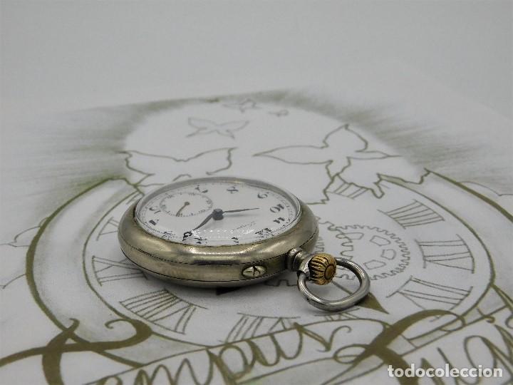 Relojes de bolsillo: LONGINES EFCº-FANTÁSTICO RELOJ DE BOLSILLO REMONTOIRE-2 TAPAS-CIRCA 1893-FUNCIONANDO - Foto 10 - 149386562