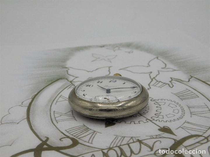 Relojes de bolsillo: LONGINES EFCº-FANTÁSTICO RELOJ DE BOLSILLO REMONTOIRE-2 TAPAS-CIRCA 1893-FUNCIONANDO - Foto 11 - 149386562