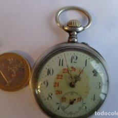 Relojes de bolsillo: MUY ANTIGUO SOBRE 1900 E IMPORTANTE RELOJ BOLSILLO DE PLATA MACIZA, COMPLETO Y FUNCIONANDO. Lote 149440514
