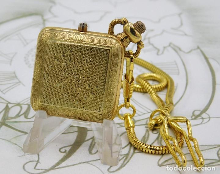 Relojes de bolsillo: RARO Y MUY BONITO RELOJ DE BOLSILLO SABONETA-ESQUELETO-VINTAGE-CARGA MANUAL-FUNCIONANDO-LEONTINA - Foto 2 - 149637114