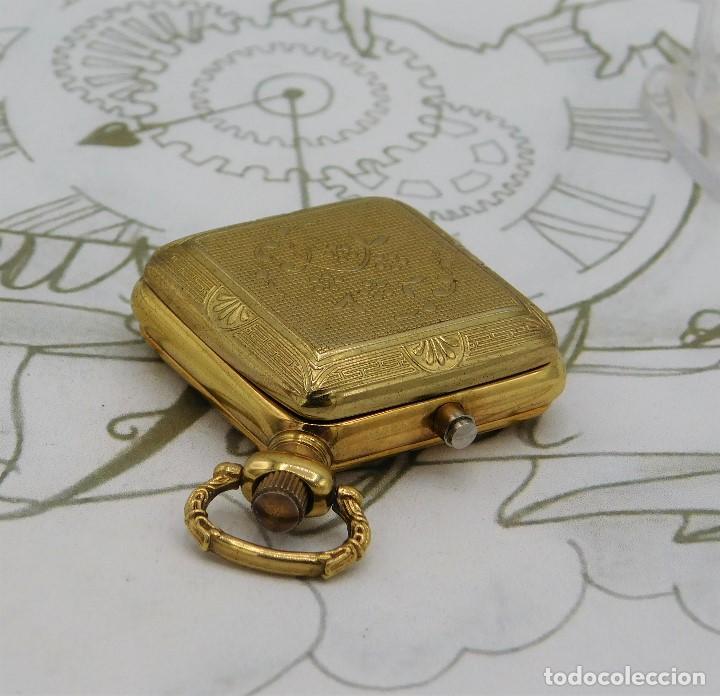 Relojes de bolsillo: RARO Y MUY BONITO RELOJ DE BOLSILLO SABONETA-ESQUELETO-VINTAGE-CARGA MANUAL-FUNCIONANDO-LEONTINA - Foto 3 - 149637114