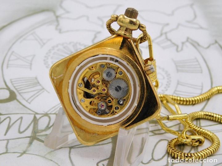 Relojes de bolsillo: RARO Y MUY BONITO RELOJ DE BOLSILLO SABONETA-ESQUELETO-VINTAGE-CARGA MANUAL-FUNCIONANDO-LEONTINA - Foto 6 - 149637114