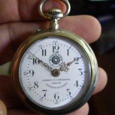 Relojes de bolsillo: RELOJ CUERVO Y SOBRINOS - HABANA CUBA APROX.1890 - ESFERA DE PORCELANA INTACTA - BUEN FUNCIONAMIENTO. Lote 149960742