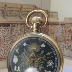Relojes de bolsillo: ELGIN MASÓNICO 1920. Lote 218938951