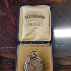 Relojes de bolsillo: CHRONOMETRE RECORD DE BOLSILLO, RELOJ DE ORO 18K, CARGA MANUAL, FUNCIONANDO PERFECTO. Lote 150073646