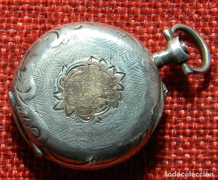 Relojes de bolsillo: ANTIGUO RELOJ DE SRA. Caja de plata. ESFERA PORCELANA. 1910 - 20 G - 30 MM - Foto 2 - 150146310
