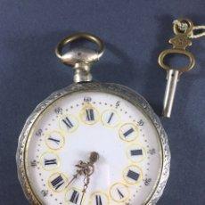 Relojes de bolsillo: ANTIGUO RELOJ DE BOLSILLO DE PLATA - DE LA PRESTIGIOSA MARCA VACHERON - SIGLO XIX. Lote 150149310