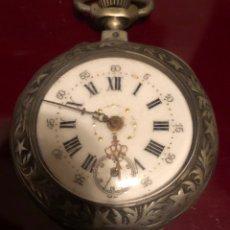 Relojes de bolsillo: PRECIOSO RELOJ DE BOLSILLO DE PLATA. Lote 150521460