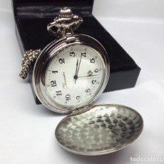 Relojes de bolsillo: RELOJ DE BOLSILLO THERMIDOR DE CUARZO, EN SU ESTUCHE - MEDIDA 4'50 CM - NUEVO A ESTRENAR. Lote 150672778