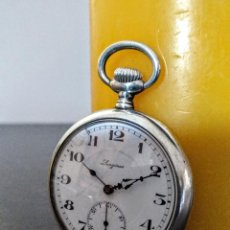 Relojes de bolsillo: RELOJ BOLSILLO LONGINES DE DAMA PLATA 800 C.1920. Lote 150930370