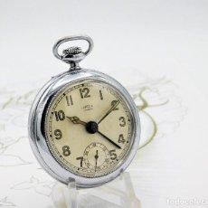 Relojes de bolsillo: CON ALARMA-IBARIA (BAUMGARTNER FRÉRES)-GRAN RELOJ DE BOLSILLO-MITAD SIGLO XX-SUIZO-FUNCIONANDO. Lote 151007474