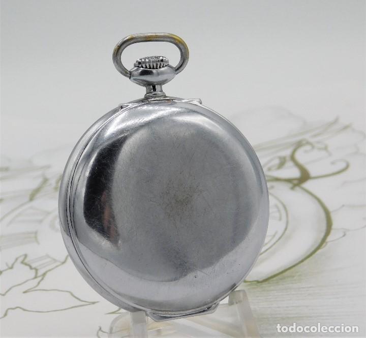 Relojes de bolsillo: CON ALARMA-IBARIA (BAUMGARTNER FRÉRES)-GRAN RELOJ DE BOLSILLO-MITAD SIGLO XX-SUIZO-FUNCIONANDO - Foto 4 - 151007474