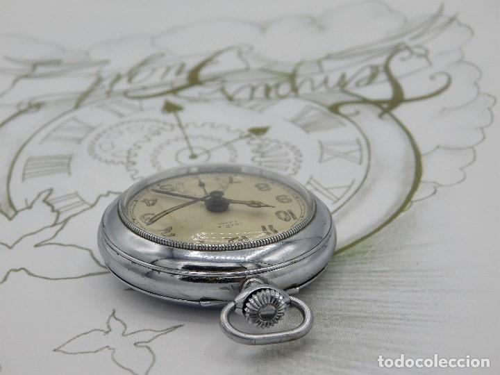 Relojes de bolsillo: CON ALARMA-IBARIA (BAUMGARTNER FRÉRES)-GRAN RELOJ DE BOLSILLO-MITAD SIGLO XX-SUIZO-FUNCIONANDO - Foto 6 - 151007474