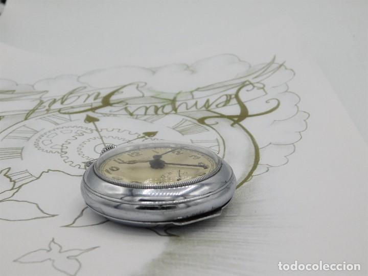 Relojes de bolsillo: CON ALARMA-IBARIA (BAUMGARTNER FRÉRES)-GRAN RELOJ DE BOLSILLO-MITAD SIGLO XX-SUIZO-FUNCIONANDO - Foto 8 - 151007474