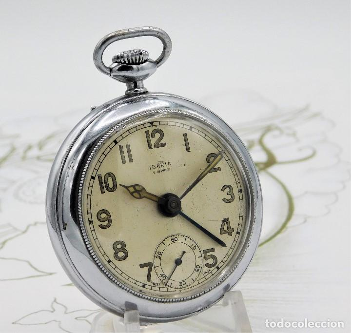 Relojes de bolsillo: CON ALARMA-IBARIA (BAUMGARTNER FRÉRES)-GRAN RELOJ DE BOLSILLO-MITAD SIGLO XX-SUIZO-FUNCIONANDO - Foto 12 - 151007474
