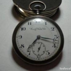 Relojes de bolsillo: MAGNIFICO RELOJ ANTIGUO DE PLATA CONTY WATCH,DE CABALLERO FUNCIONANDO,SALIDA 1 EURO. Lote 151406338
