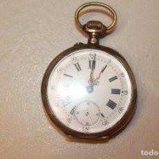 Relojes de bolsillo: RELOJ DE BOLSILLO DE PLATA, TRES TAPAS. ESFERA 4,2CM. AL TOCAR UNA DE LAS RUEDA INTERNAS, FUNCIONA.. Lote 151432506