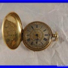 Relojes de bolsillo: BELLISIMO RELOJ SABONETA DE BOLSILLO G.A. HUGUENIN POST DE ORO . Lote 151537450