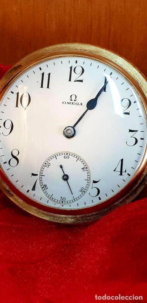 Relojes de bolsillo: Exclusivo reloj omega en oro 18k, tres grandes premios - Foto 3 - 151853386