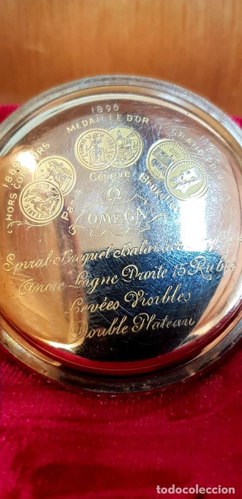 Relojes de bolsillo: Exclusivo reloj omega en oro 18k, tres grandes premios - Foto 4 - 151853386