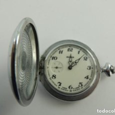 Relojes de bolsillo: ANTIGUO RELOJ DE BOLSILLO DE CUERDA MARCA MOLNIA RUSIA USSR-RARO FUNCIONA. Lote 151911350