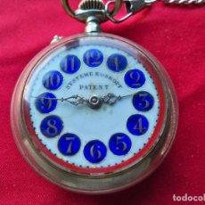 Relojes de bolsillo: ANTIGUO RELOJ DE BOLSILLO ROSKOPF CON MAQUINARIA A LA VISTA. Lote 152041538