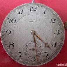 Relojes de bolsillo: MAQUINA DE RELOJ BOLSILLO ANTIGUA. Lote 152336046