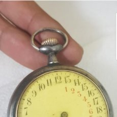 Relojes de bolsillo: RELOJ ANTIGUO DE BOLSILLO 24 HORAS CIRCA 1880 1890 BUEN ESTADO FUNCIONA ALTA COLECION . Lote 152366430