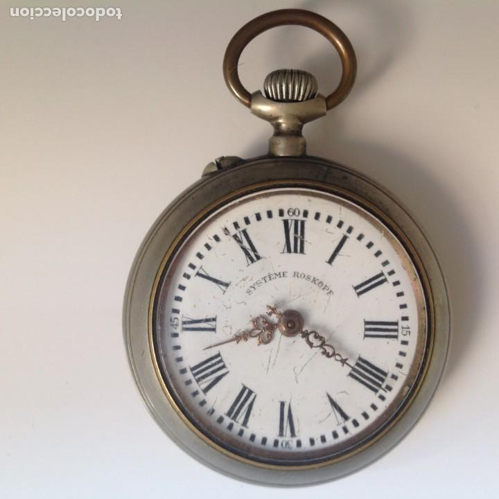 RELOJ DE BOLSILLO. SYSTEME ROSKOPF (Relojes - Bolsillo Carga Manual)