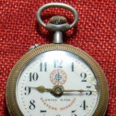 Relojes de bolsillo: ANTIGUO RELOJ ARENA WATCH – SYSTEME ROSKOPF – SWISS – PRINCIPIOS S. XX – ESFERA PORCELANA – 48 MM. Lote 152700394