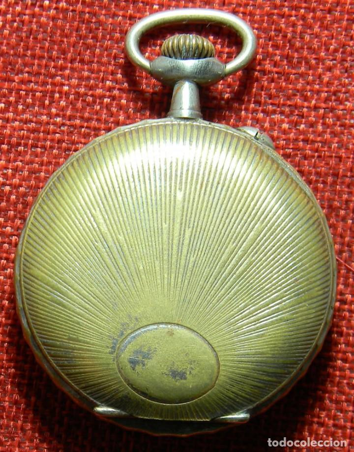 Relojes de bolsillo: Antiguo reloj Arena Watch – Systeme Roskopf – Swiss – Principios s. XX – Esfera porcelana – 48 mm - Foto 2 - 152700394