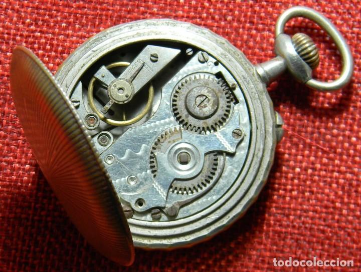 Relojes de bolsillo: Antiguo reloj Arena Watch – Systeme Roskopf – Swiss – Principios s. XX – Esfera porcelana – 48 mm - Foto 3 - 152700394