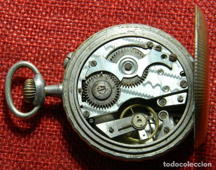 Relojes de bolsillo: Antiguo reloj Arena Watch – Systeme Roskopf – Swiss – Principios s. XX – Esfera porcelana – 48 mm - Foto 6 - 152700394