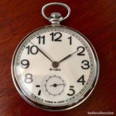 Relojes de bolsillo: RELOJ DE BOLSILLO RUSO USSR SOVIETICO, CAJA DE 45MM . Lote 152890118