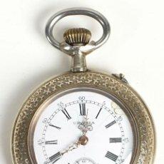 Relojes de bolsillo: RELOJ DE BOLSILLO. URANIA. TIPO LEPINE. CAJA DE METAL PLATEADO. SUIZA. SIGLO XX. . Lote 153302470