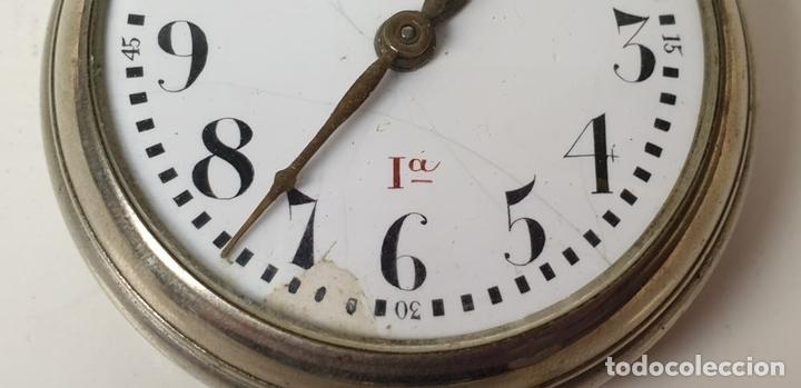 Relojes de bolsillo: RELOJ DE BOLSILLO. EL CRONOMETRO GW AND CIA. TIPO LEPINE. SUIZA. SIGLO XX. - Foto 6 - 153308402