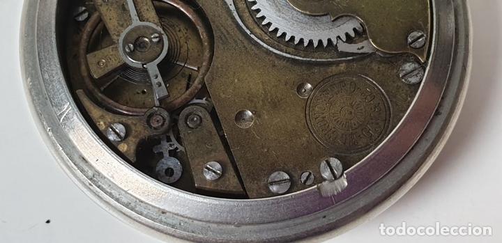 Relojes de bolsillo: RELOJ DE BOLSILLO. EL CRONOMETRO GW AND CIA. TIPO LEPINE. SUIZA. SIGLO XX. - Foto 10 - 153308402
