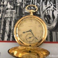 Relojes de bolsillo: PRECIOSO RELOJ DRUSUS DOBLE CHAPADO MDE ORO , VER FOTO 54 MM FALTA CORONA. Lote 153311688