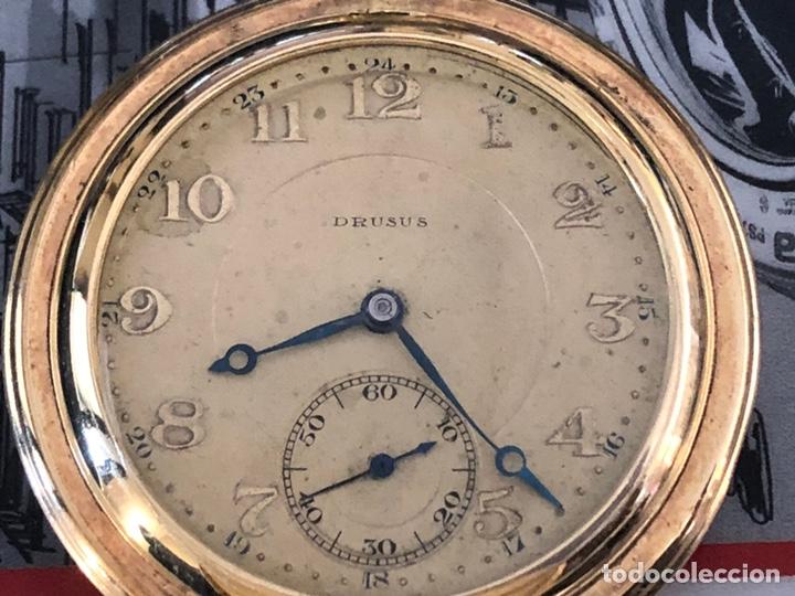 Relojes de bolsillo: Precioso reloj Drusus doble chapado mde oro , ver foto 54 mm falta corona - Foto 3 - 153311688
