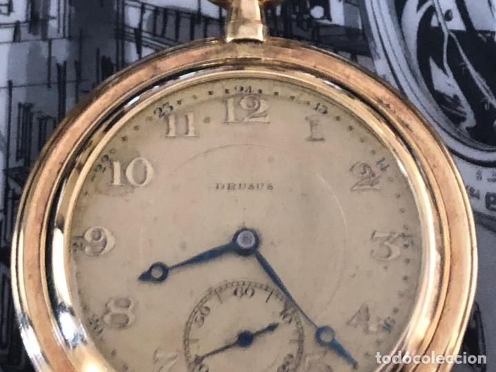 Relojes de bolsillo: Precioso reloj Drusus doble chapado mde oro , ver foto 54 mm falta corona - Foto 4 - 153311688
