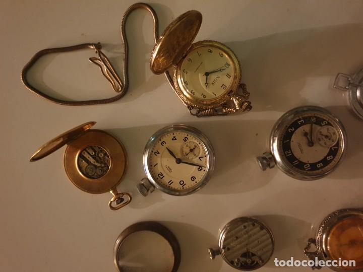 Relojes de bolsillo: LOTE 13 RELOJES BOLSILLO RESTAURAR O PIEZAS - Foto 3 - 153389322