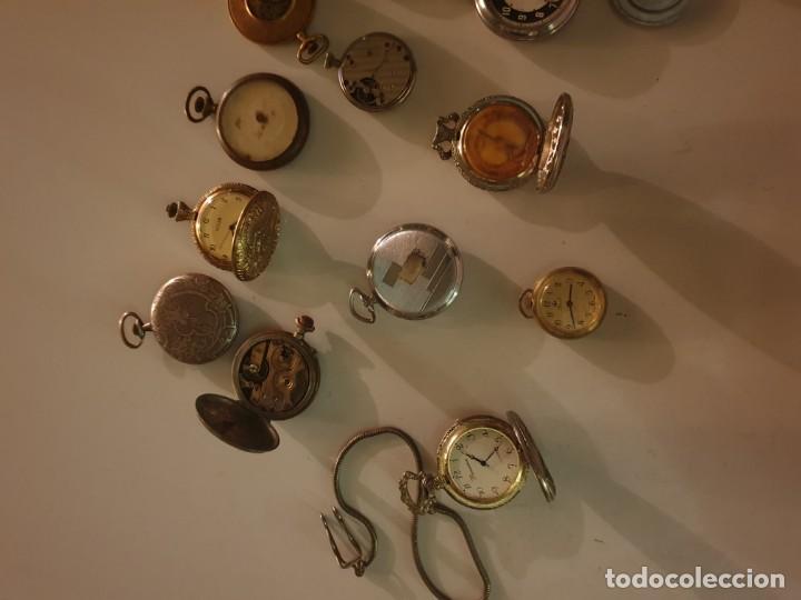Relojes de bolsillo: LOTE 13 RELOJES BOLSILLO RESTAURAR O PIEZAS - Foto 7 - 153389322