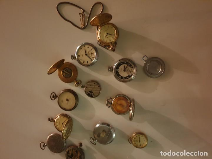 Relojes de bolsillo: LOTE 13 RELOJES BOLSILLO RESTAURAR O PIEZAS - Foto 8 - 153389322