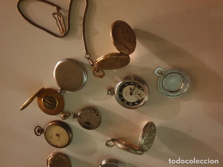 Relojes de bolsillo: LOTE 13 RELOJES BOLSILLO RESTAURAR O PIEZAS - Foto 10 - 153389322
