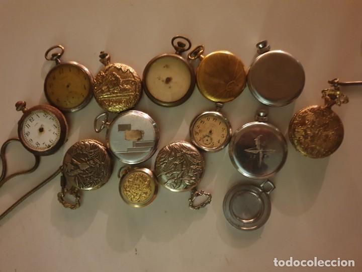 Relojes de bolsillo: LOTE 13 RELOJES BOLSILLO RESTAURAR O PIEZAS - Foto 16 - 153389322