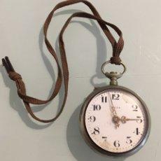 Relojes de bolsillo: RELOJ DE BOLSILLO META ANTIGUO. Lote 153495129