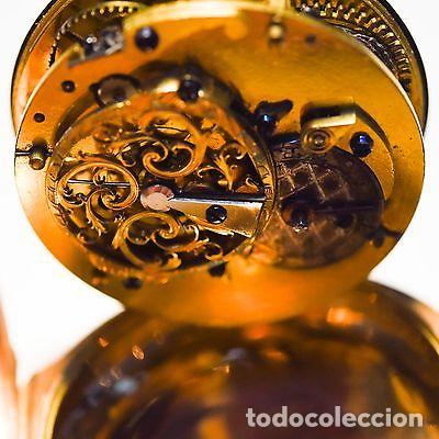 Relojes de bolsillo: ANTIGUO IMPRESIONANTE RELOJ BOLSILLO ORO 18 KT CATALINO LLAVE ORO FLOR LIS borbones precio 32300 eu - Foto 4 - 153510222